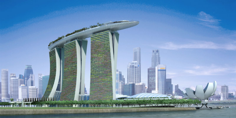 The Spectacular Beauty of Marina Bay Sand Hotel