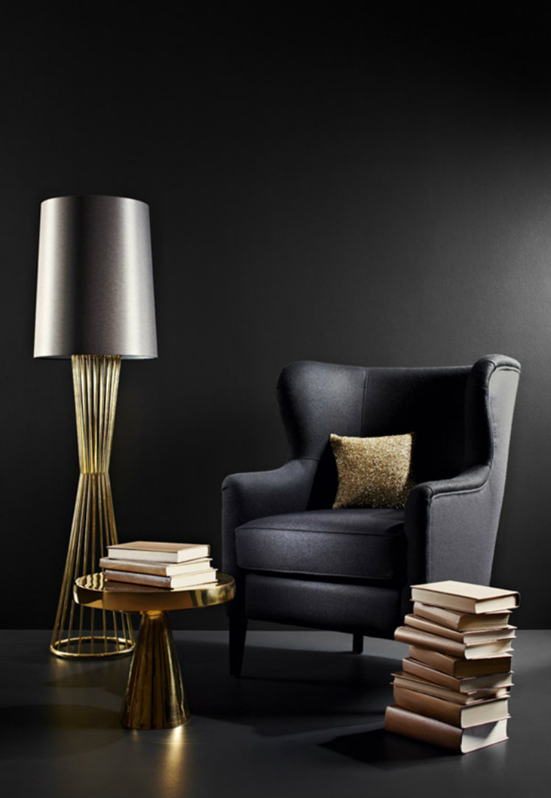 Covetedition-BLACK & GOLD FOR A STYLISH LIVING ROOM-black