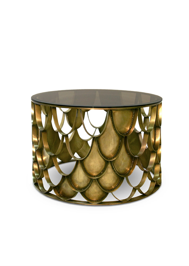 Covetedition-BLACK & GOLD FOR A STYLISH LIVING ROOM-koi table
