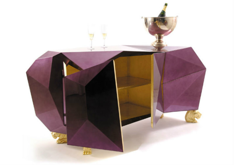Covetedition-Diamond shapes inspired Furniture-bar