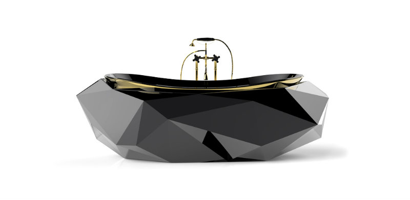 Covetedition-Diamond shapes inspired Furniture--diamond-bathtub