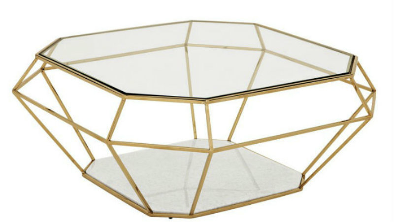 Covetedition-Diamond shapes inspired Furniture- table