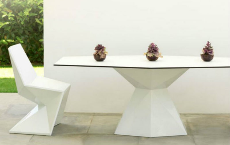 Covetedition-Diamond shapes inspired Furniture-table