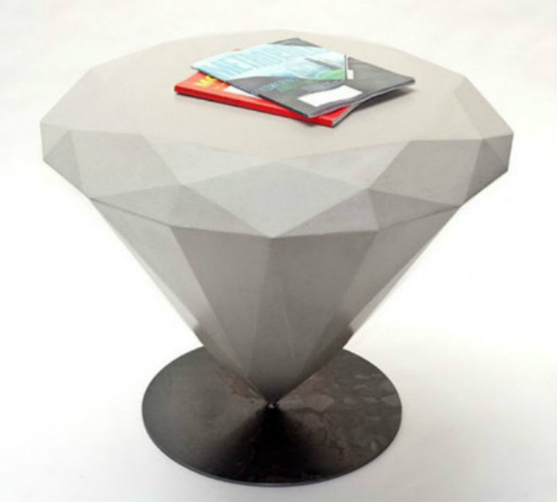 Covetedition-Diamond shapes inspired Furniture-tavolo-diamante