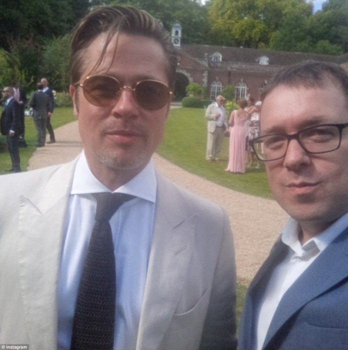 Covetedition-Guy Ritchie and Jacqui Ainsley got married-Brad Pitt