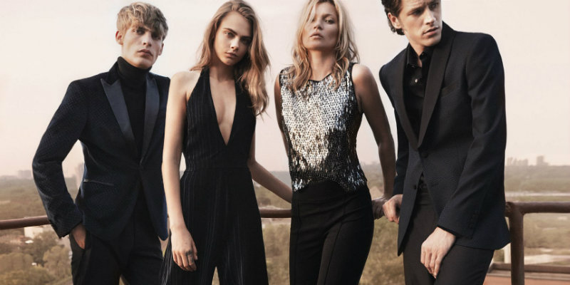 Cara Delevingne and Kate Moss star in Mango Collection show