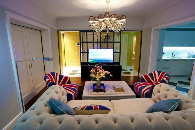 coveted-Achieve-Brilliance-at-home-with-Floor-Lamps-Modern Living Area With Luxury Tufted Sofa And Union Jack Cozy Chair Also Metal Contemporary Floor Lamp