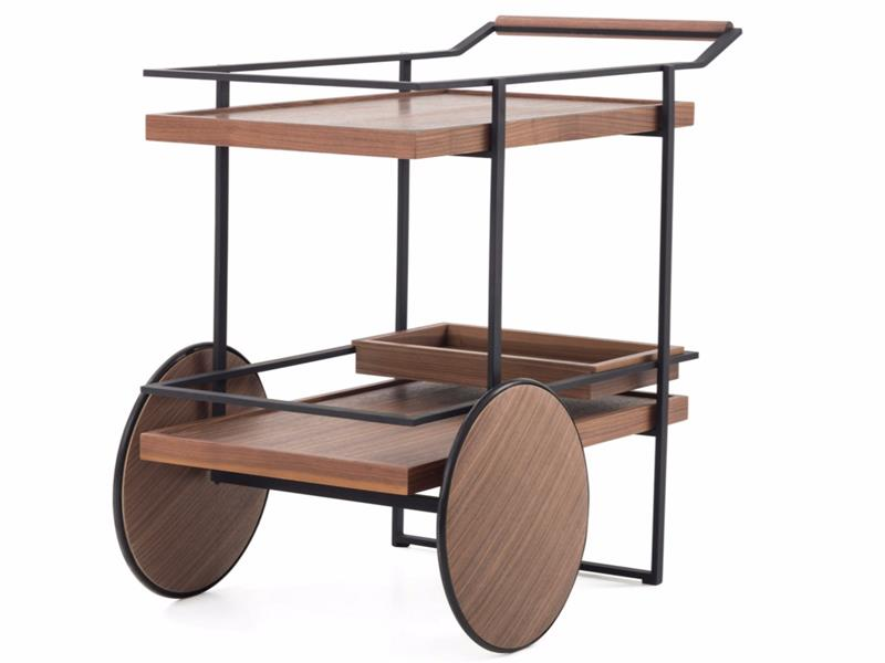 CovetED magazine Yabu Pushelberg design collection for Stellar Works drinks trolley