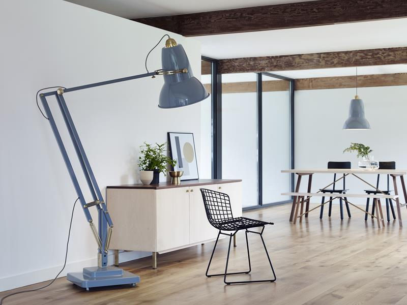 Anglepoise_Original_1227_Brass_Giant_Floor_&_Pendant_Lamp_Elephant_Grey (Copy)  Light+Building 2016: Giant Lamp Collection by Anglepoise Anglepoise Original 1227 Brass Giant Floor  Pendant Lamp Elephant Grey Copy