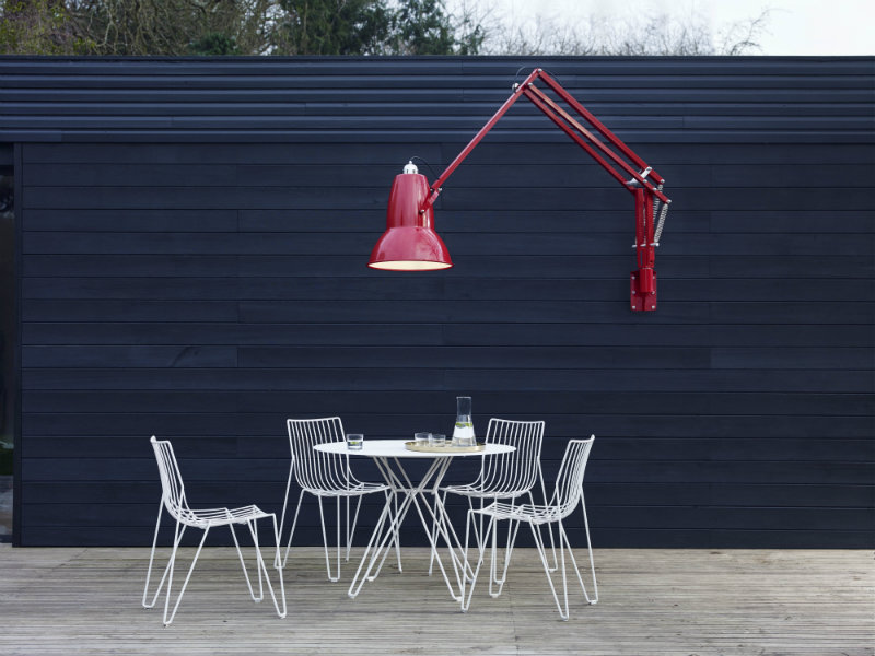 Anglepoise_Original_1227_Giant_Outdoor_Wall_Mounted_Lamp_Crimson_Red  Light+Building 2016: Giant Lamp Collection by Anglepoise Anglepoise Original 1227 Giant Outdoor Wall Mounted Lamp Crimson Red