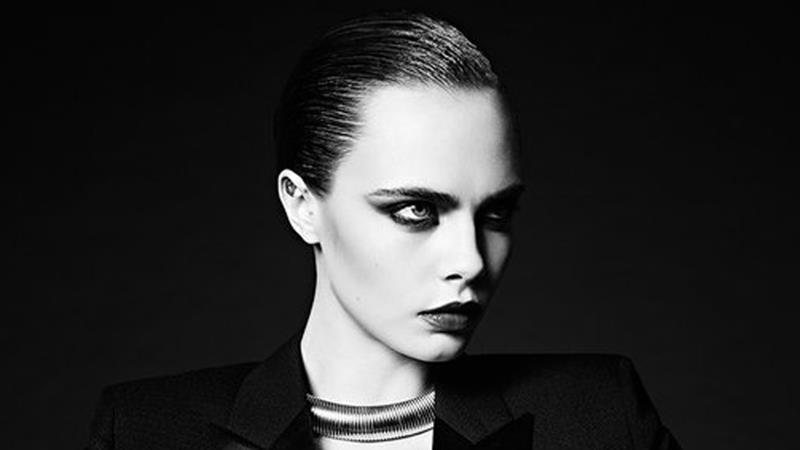 CovetED Cara Delevingne strikes again with Saint Laurent photography Cara Delevingne strikes again with Saint Laurent CovetED Cara Delevingne strikes again with Saint Laurent photography