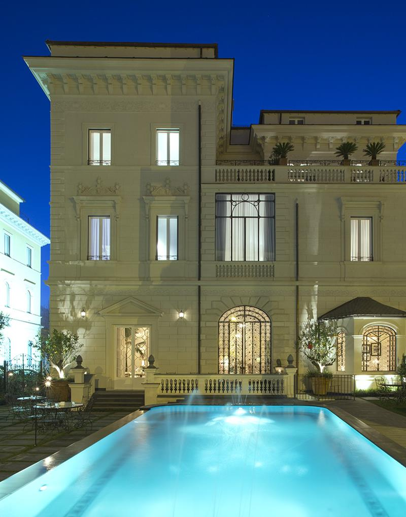 Coveted small luxury hotels 5 star palazzo dama exterior for Small luxury hotel