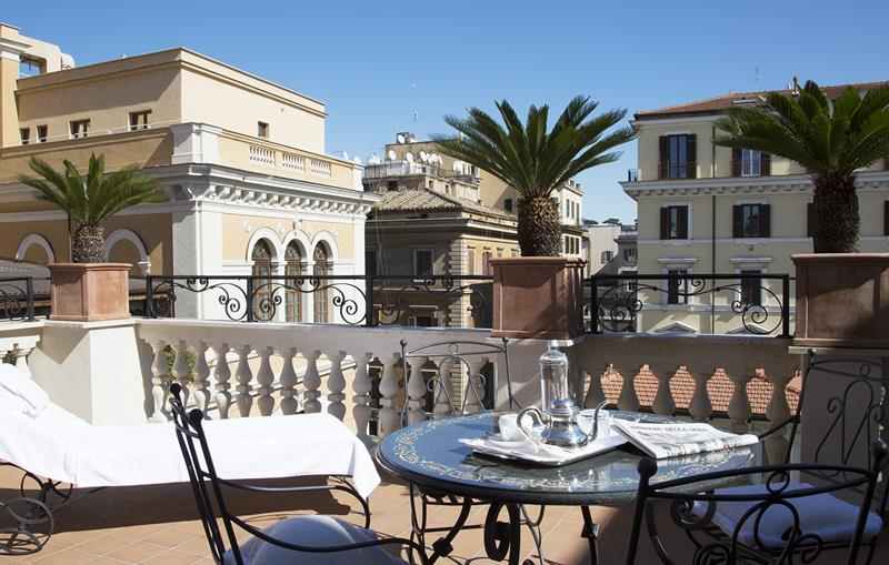 CovetED Small Luxury Hotels 5 Star Palazzo Dama terrace