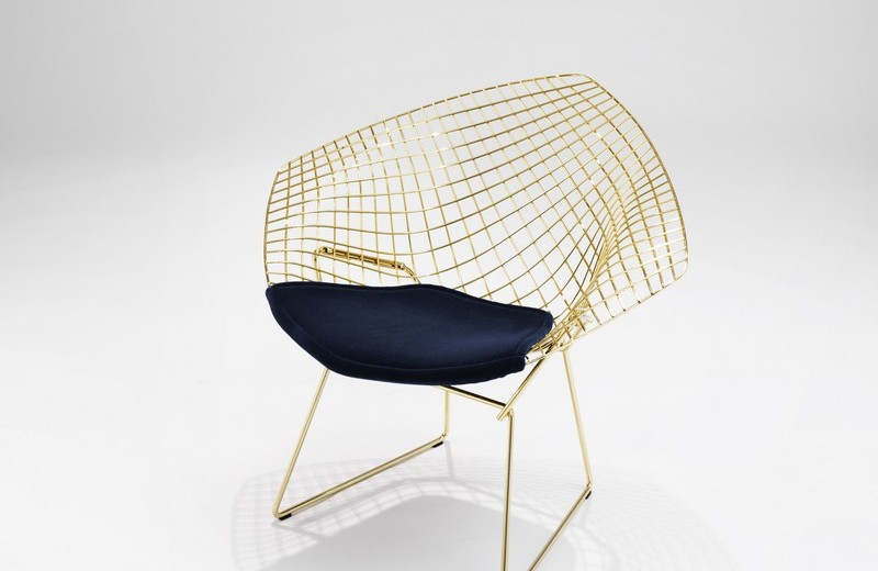 Diamond_Chair Gold By Harry Bertoia_0227  Knoll new collections and iconic products at Salone del Mobile 2016 Diamond Chair Gold By Harry Bertoia 0227
