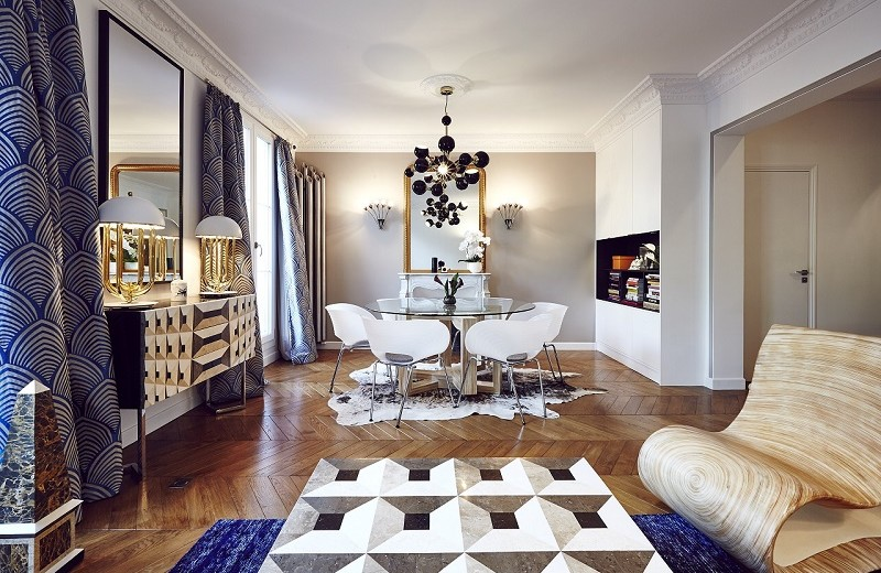See the Contemporary Interiors of L'Appartement by Rue Monsieur Paris 1