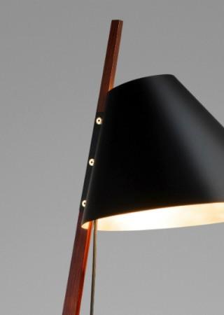 Ilse Crawford's brass-footed floor lamp for Kalmar Werkstätten