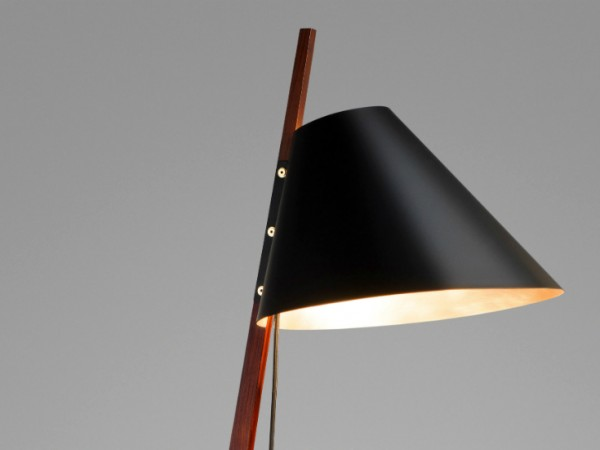Ilse Crawford's brass-footed floor lamp for Kalmar Werkstätten