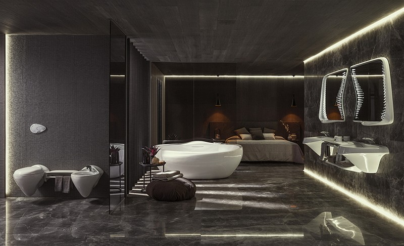 Recalling Zaha Hadid Group's Luxury Bathroom Designs for Porcelanosa luxury bathroom designs Recalling Zaha Hadid Group's Luxury Bathroom Designs for Porcelanosa zaha hadid architects porcelanosa vitae collection 1
