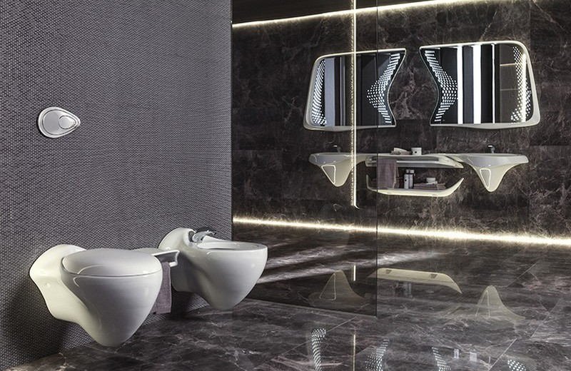 Recalling Zaha Hadid Group's Luxury Bathroom Designs for Porcelanosa 2