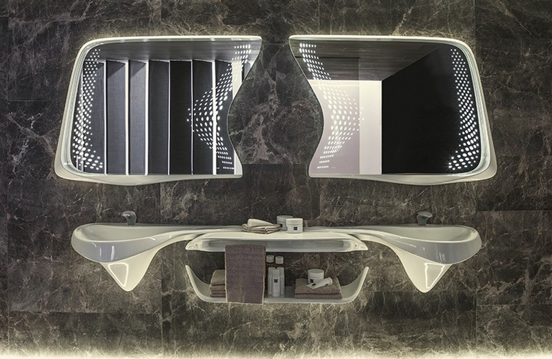 Recalling Zaha Hadid Group's Luxury Bathroom Designs for Porcelanosa 3