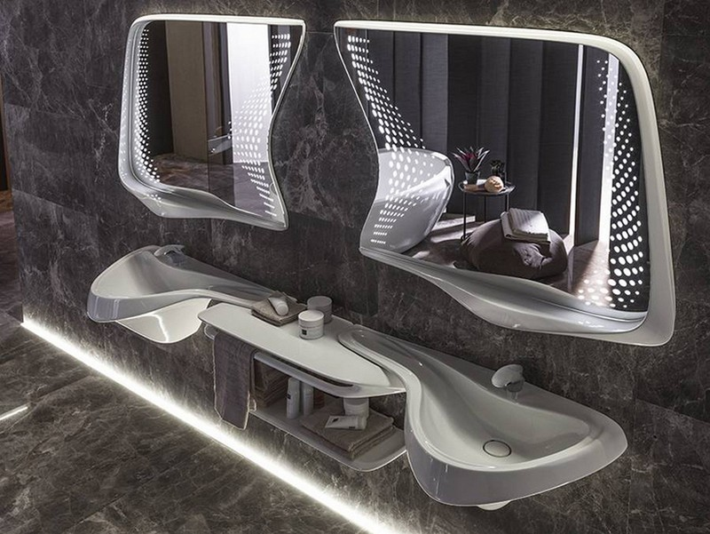 Recalling Zaha Hadid Group's Luxury Bathroom Designs for Porcelanosa 4 luxury bathroom designs Recalling Zaha Hadid Group's Luxury Bathroom Designs for Porcelanosa zaha hadid architects porcelanosa vitae collection 4