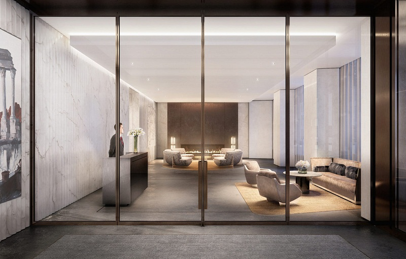 George and Amal Clooney george and amal clooney George and Amal Clooney's new Apartment in New York DBOX 100E53 Amenity Lobby