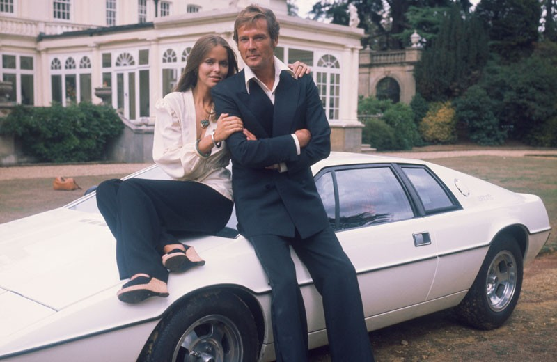 lotus_esprit_roger_moore_barbara_bach james bond The Greatest Cars to Have Appeared in the James Bond Series Lotus Esprit Roger Moore Barbara Bach