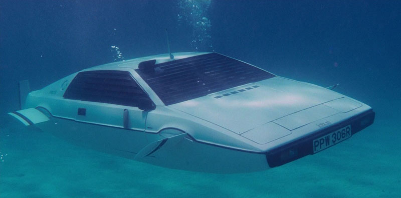 lotus_esprit_s1_submarine james bond The Greatest Cars to Have Appeared in the James Bond Series Lotus esprit S1 submarine
