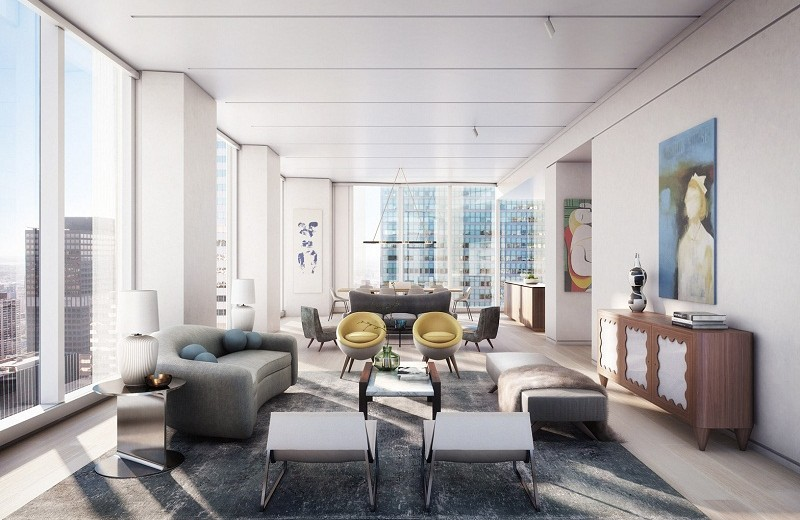 George and Amal Clooney george and amal clooney George and Amal Clooney's new Apartment in New York One Hundred East Fifty Third Street Foster and Partners New York Residential Tower 15