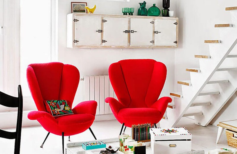 Rustic Living Room Red Accent Chairs, Red Accent Chair Living Room
