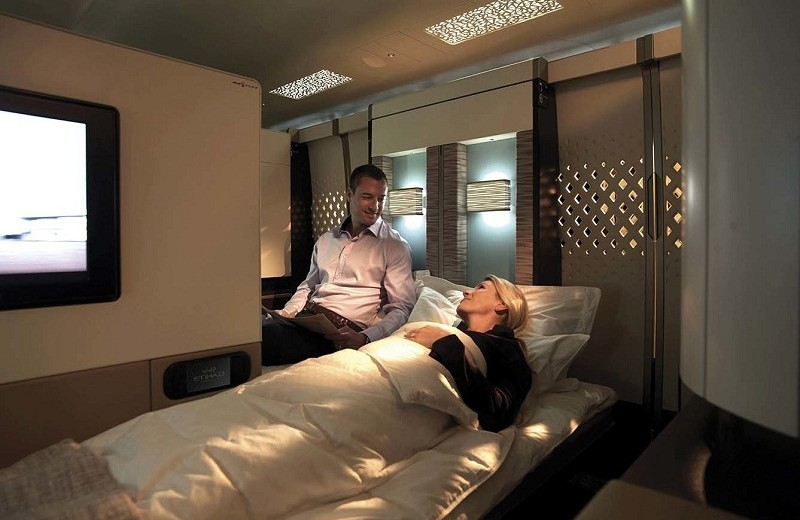 Coveted: Meet the most luxurious suite in the sky: The Residence by Etihad the residence by etihad Meet the most luxurious suite in the sky: The Residence by Etihad wp content uploads 2015 09 CS Etihad FC DOUBLEBED