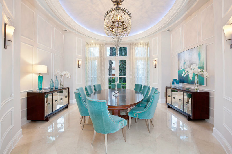 Turquoise Dining Chairs Covet Edition