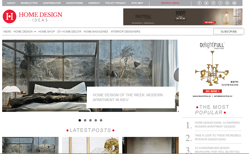 Top 100 Best Interior Design Blogs 2017