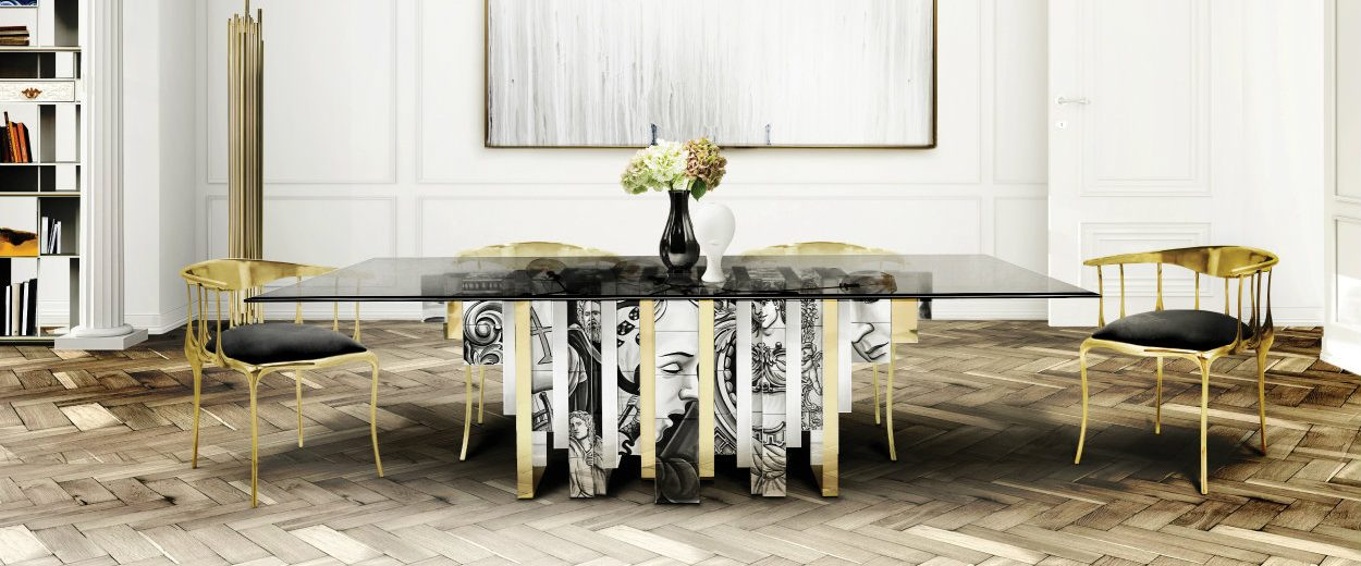 8 bold dining tables