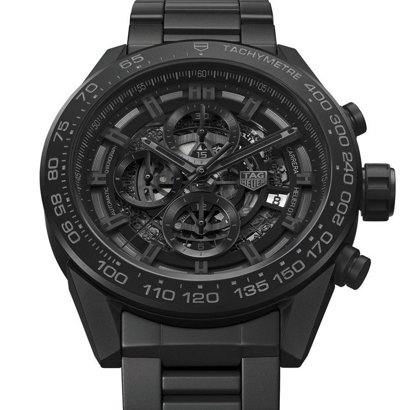 Carrera Heuer-01 Full Black Matt Ceramic - tag heuer baselworld 2017 basel Sneak Peek: What to Expect at Basel 2017 Carrera Heuer 01 Full Black Matt Ceramic tag heuer