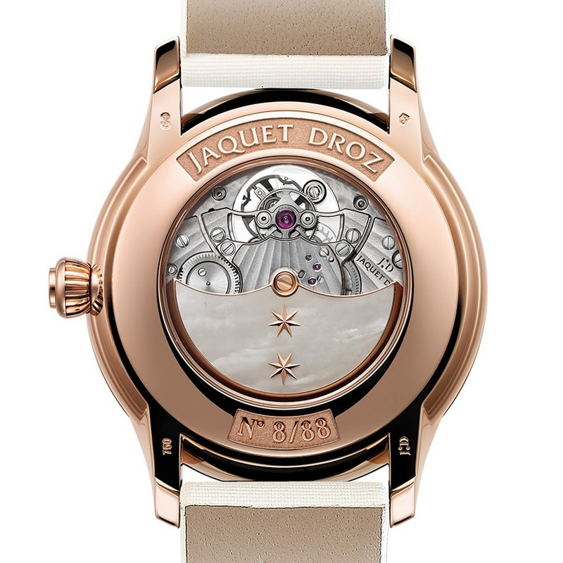 Grande Seconde Tourbillon Mother-of-Pearl - Jaquet Droz baselworld 2017 basel Baselworld 2017 – Top Exhibitors Of The Finest Watches And Jewelry Grande Seconde Tourbillon Mother of Pearl Jaquet Droz