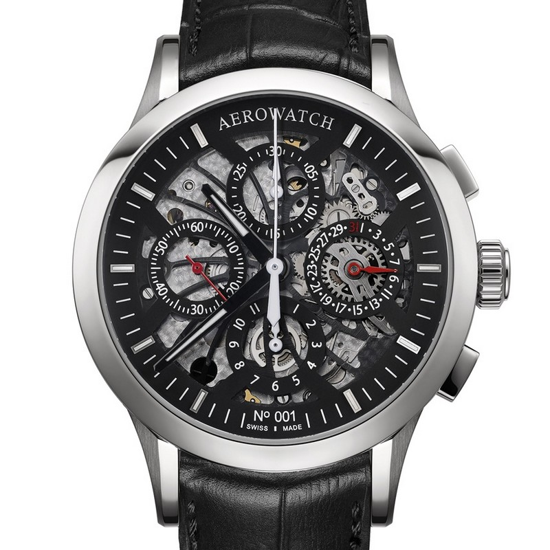 Les Grandes Classiques – NUMBERED Semi-Skeleton Chronograph - Aerwatch baselworld 2017 basel Baselworld 2017 – Top Exhibitors Of The Finest Watches And Jewelry Les Grandes Classiques  E2 80 93 NUMBERED Semi Skeleton Chronograph Aerwatch