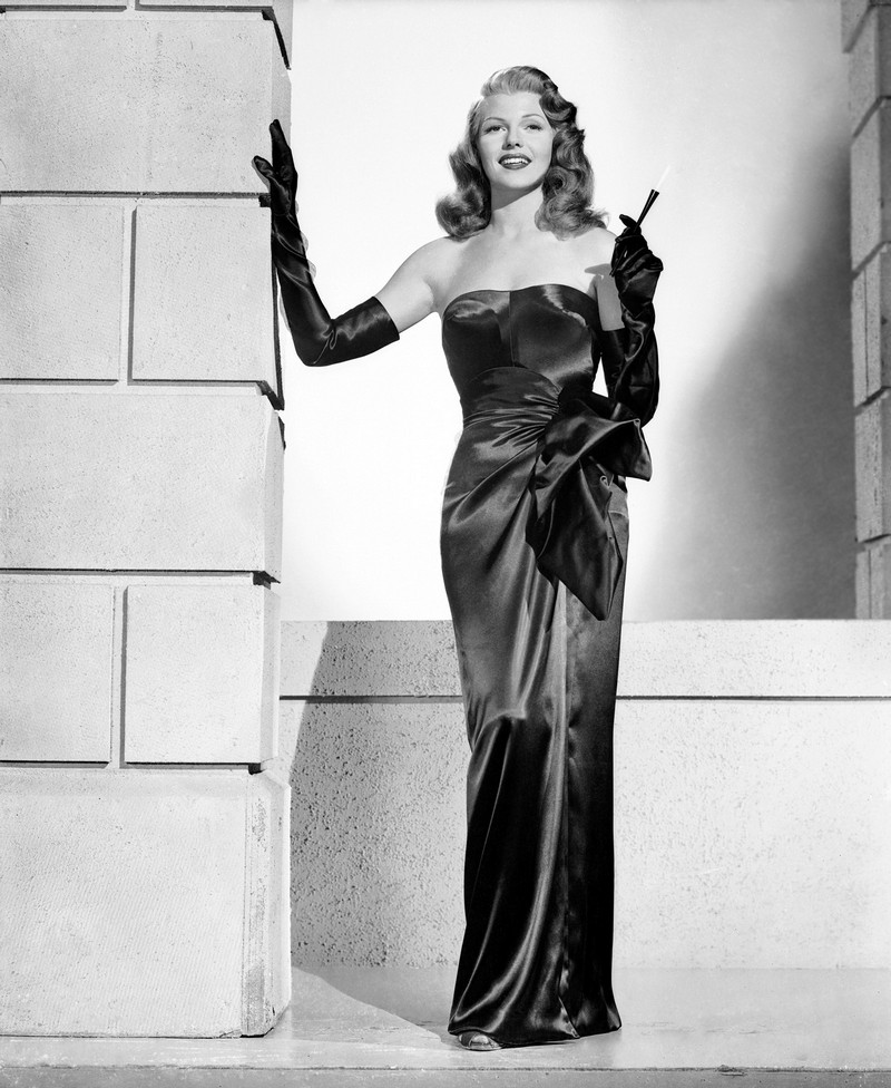 1946: Rita Hayworth (1918 - 1987) plays the sexy title role in the wartime film noir 'Gilda', directed by Charles Vidor. (Photo by Robert Coburn Sr.)  Style Icons We Covet - Rita Hayworth Style Icons We Covet Rita Hayworth 1