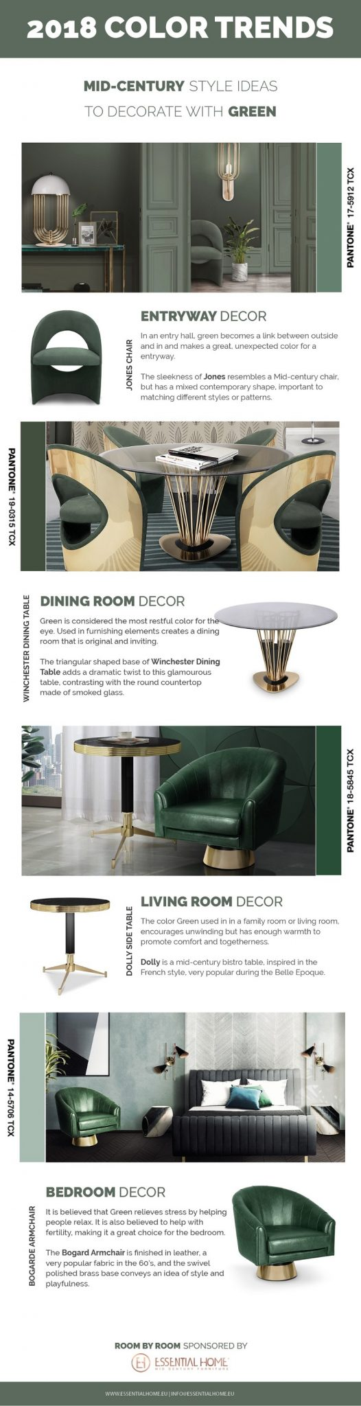 2018 Color Trends - Mid Century Home Decor Ideas With Green ➤ To see more news about Luxury Design visit us at http://covetedition.com/ #interiordesign #homedecor #luxurybrand @BathroomsLuxury @bocadolobo @delightfulll @brabbu @essentialhomeeu @circudesign @mvalentinabath @luxxu @covethouse_ 2018 color trends 2018 Color Trends - Mid Century Home Decor Ideas With Green 2018 Color Trends Rocking a Green Decor in Your Mid Century Home info