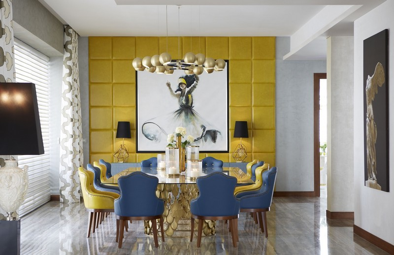A Preview Of Pantones Home Interiors Colour Trends 2018 3 This Emirates Hills Villa Dining Room