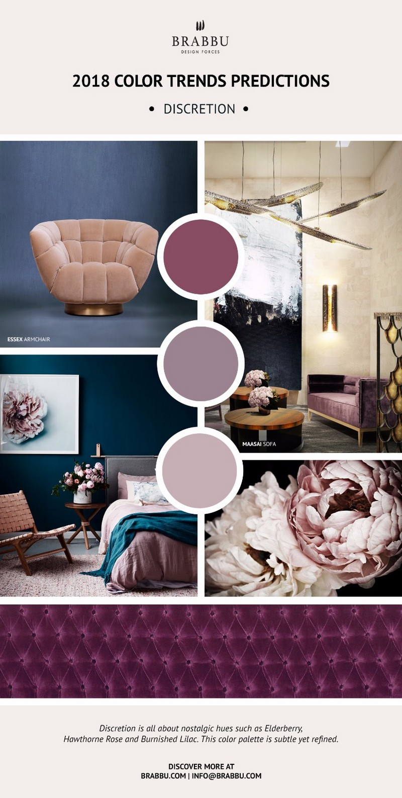 Decorate your interiors using pantones 2018 colour trends for Home decorations 2018