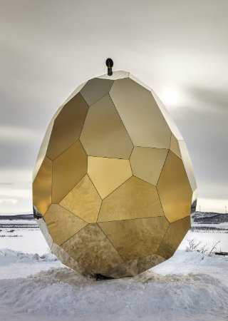 An Egg Shaped Sauna and Sculpture That's Simply Outstanding
