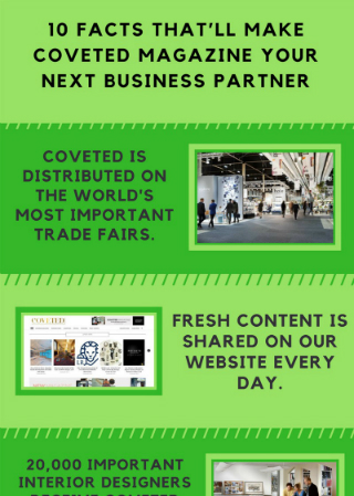 10 Facts That'll Make CovetED Magazine Your Next Business Partner. To see more news about CovetED, subscribe our newsletter right now! #businesspartner #reliablebusinesspartner #coveted #10reasons #socialmedia #interiordesigners #worldwidedistribution #tradefairs #luxuryhotels