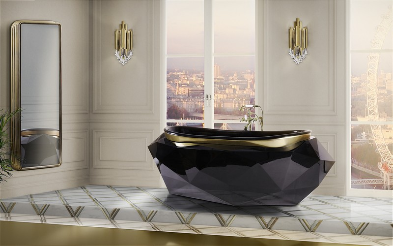 Meet the Winter Luxury Bathrooms of Maison Valentina. To see more news about design brands, subscribe our newsletter right now! #maisonvalentina #luxurybathrooms #luxurybrands #diamondcollection #lapiazcollection #newtoncollection #symphonycollection #koicollection #bathroomdecor