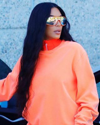 Kim Kardashian West Presents Yeezy Collection on the Street (Again)
