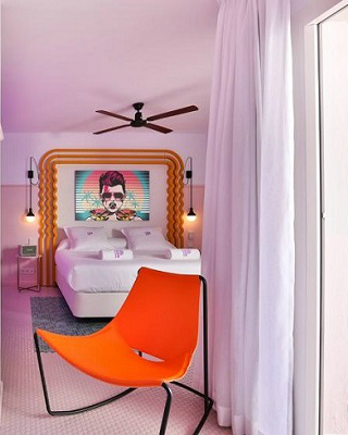 A Colorful Interior Design At Paradiso Ibiza Art Hotel Ibiza, Spain ➤ #covetedmagazine #luxurymagazine #luxuryliving #interiordesign #homedecor #milandesignweek2019 #salonedelmobile2019 #isaloni2019 #maisonetobjet ➤ www.covetedition.com ➤ @covetedmagazine @bocadolobo @delightfulll @brabbu @essentialhomeeu @circudesign @mvalentinabath @luxxu @covethouse_ @rug_society @pullcast_jewelryhardware @bybrabbucontract