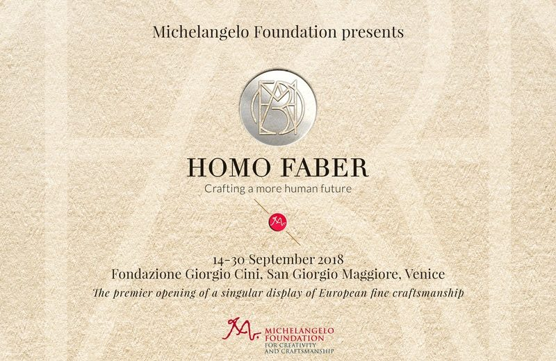 european craftsmanship Homo Faber Is a Unique Venitian Event that Boosts European Craftsmanship Homo Faber Is a Unique Venice Event that Boosts European Craftsmanship 1