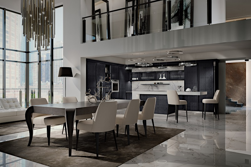 italian luxury interiors by martini mobili with new tables
