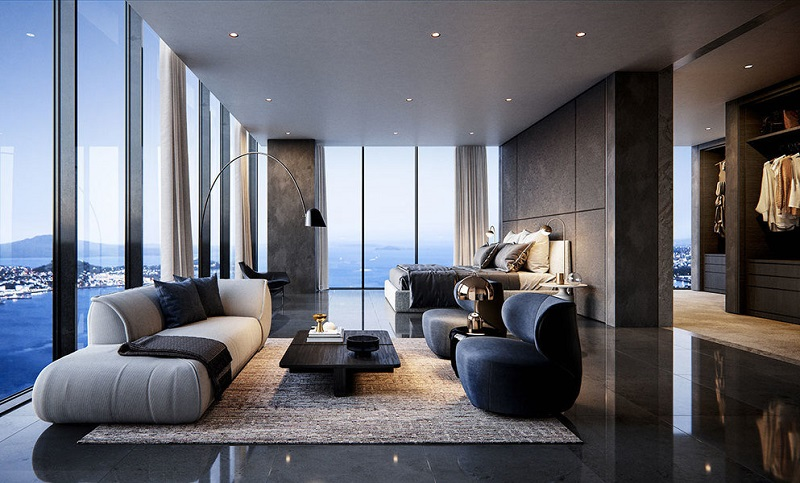 "Luxury Homes: The Pacifica ""Super Penthouse"" in New Zealand The Pacifica Super Penthouse ➤ #covetedmagazine #luxuryhomes #thepacificapenthouse #inspirations ➤ www.covetedition.com ➤ @covetedmagazine @bocadolobo @delightfulll @brabbu @essentialhomeeu @circudesign @mvalentinabath @luxxu @covethouse_ @rug_society @pullcast_jewelryhardware @bybrabbucontract"
