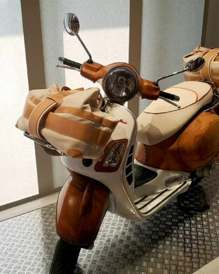 Bottega Conticelli Reveals Leather Covered Vespa at Homo Faber